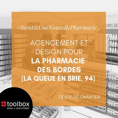 La Queue en Brie (94) : agencement et design pour la pharmacie des Bordes