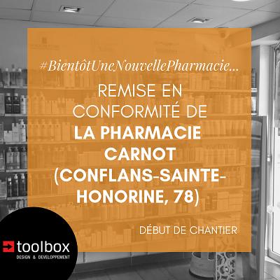 Conflans-Sainte-Honorine (78) : remise en conformité de la pharmacie Carnot