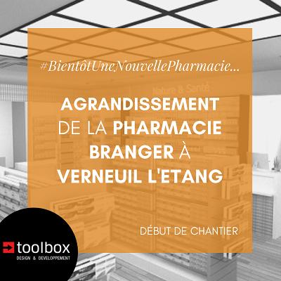 Verneuil l'Etang : l'agrandissement de la Pharmacie Branger débute !