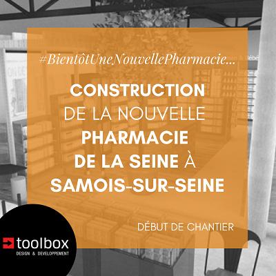 Samois-sur-Seine : la nouvelle pharmacie de la Seine se construit