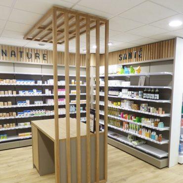 Le réagencement de la pharmacie BEAUGENDRE, à Betton en Ille-et-Vilaine